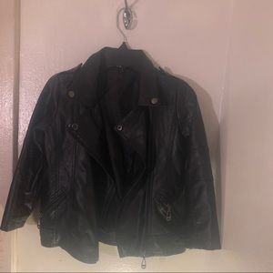 Other - Toddler boys black pleather light weight jacket